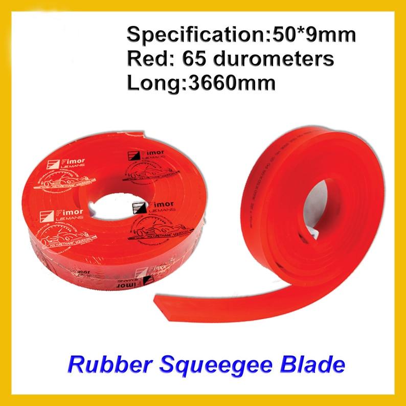 One Roll Screen Printing Squeegee Scraper Strips Silk Screen Printing Squeegee Blade France FIMA 65 Duro Durometers 142 Inch