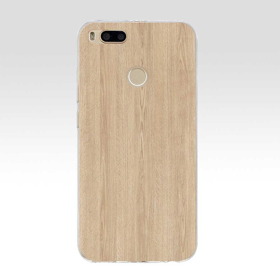 87G estilo de madera para Xiaomi mi A1 funda Fundas Coque funda mi 5x funda de silicona suave bolsas de TPU