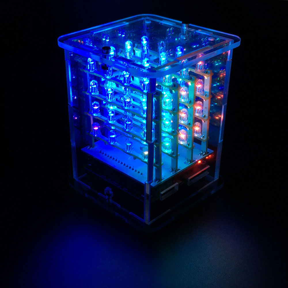 2016NEW! Keyestudio 4*4*4 RGB LED CUBE комплект для Arduino