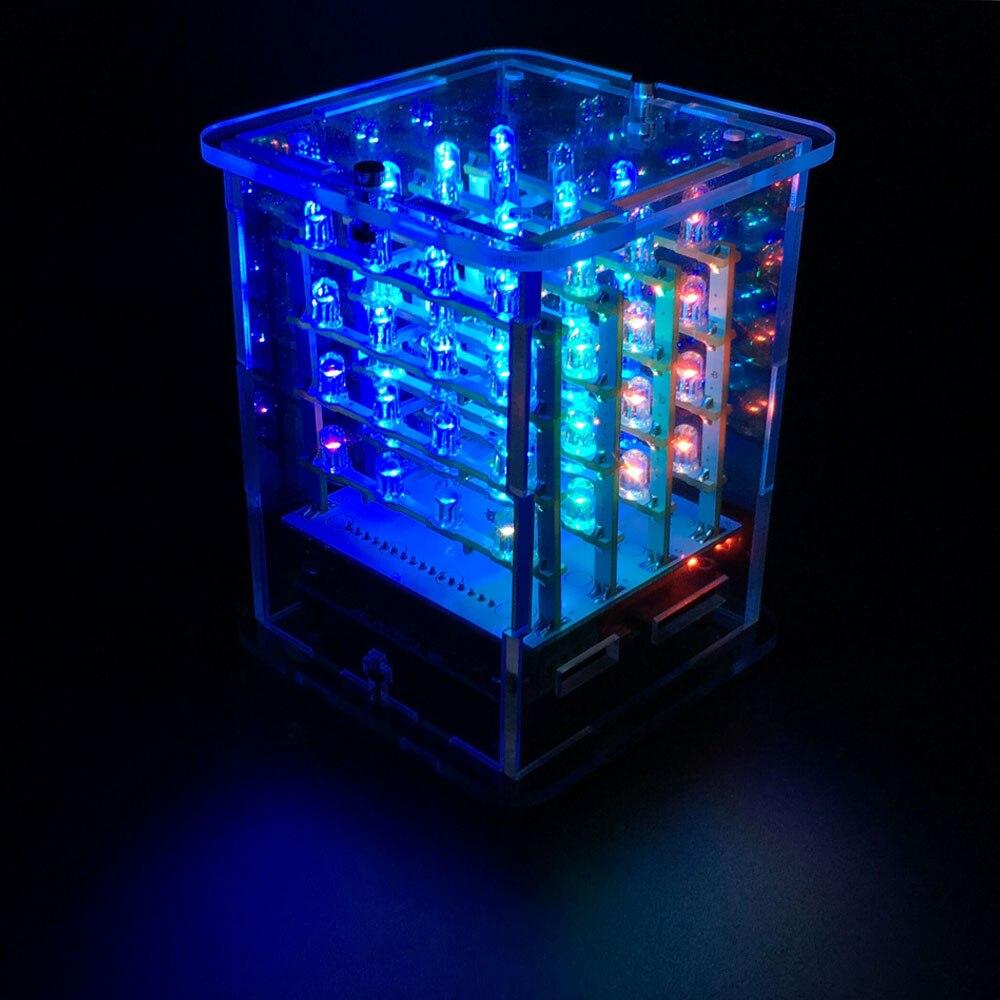 2018NEW! Keyestudio 4*4*4 RGB светодиодный дисплей куб стартовый комплект для проекта Arduino + RGB плата драйвера + FDTI модуль (Unassemb светодиодный)
