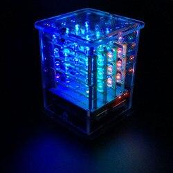 2018NEW! Keyestudio 4*4*4 RGB LED Display  CUBE Starter Kit for Arduino project+RGB Driver board+FDTI module (Unassembled)