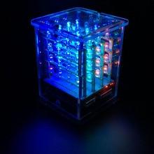 Keyestudio 4*4*4 Rgb Led Display Cube Starter Kit Voor Arduino Project + Rgb Driver Board + fdti Module (Niet Gemonteerd)