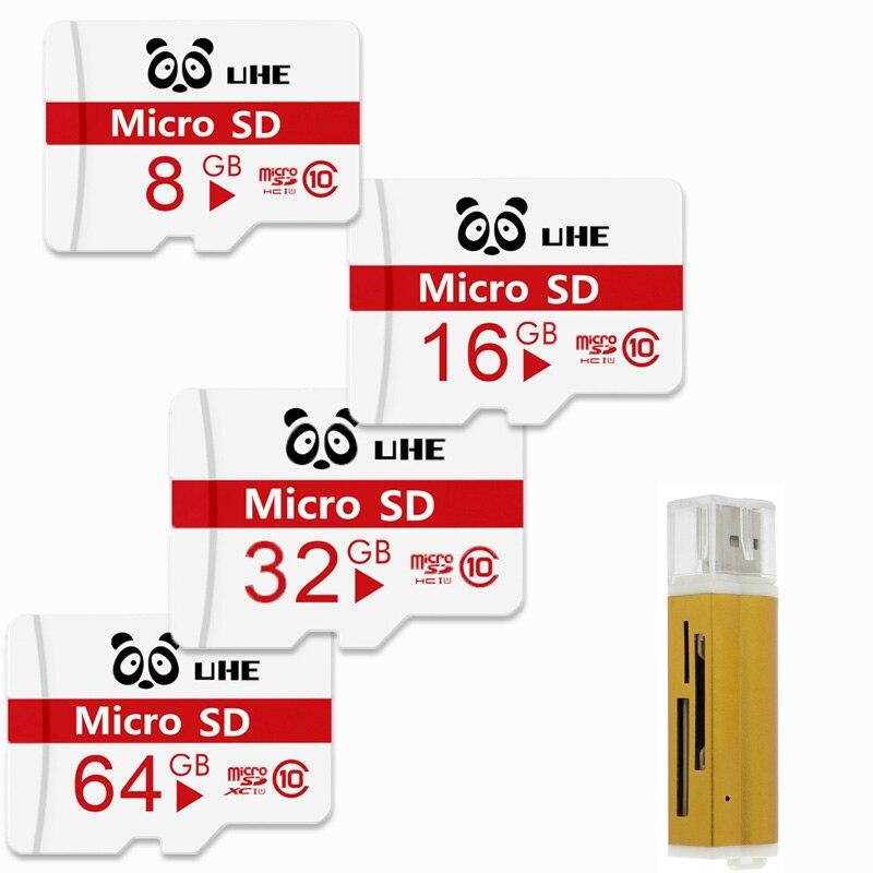 High Qualiy Microsd SD 32GB memory card 64GB tf cards 4GB 8GB 16GB flash Cartao De Memoia microsd with card reader mini gift
