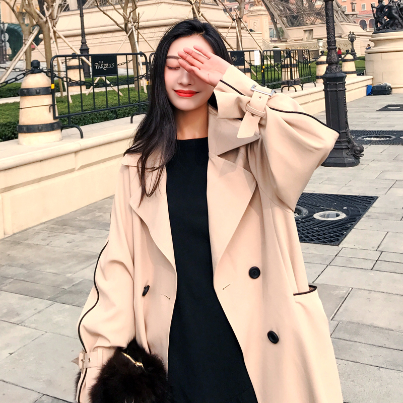 Fashion women comfortable warm solid long coat new arrival autumn winter korean temperament outerwear holiday sweet   trench