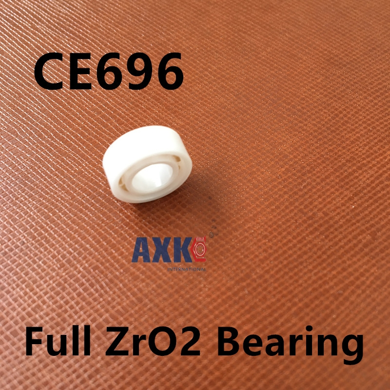 Free shipping 696 full ZrO2 ceramic deep groove ball bearing 6x15x5mm good quality 627 full zro2 ceramic deep groove ball bearing 7x22x7mm good quality