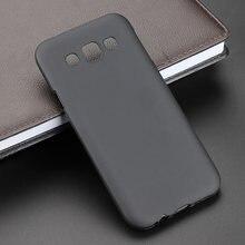 4375d1c262e Negro gel TPU Slim Soft anti derrapaje caso cubierta trasera para Samsung  Galaxy E5 E500 E500F Teléfono de caucho de silicona bo.