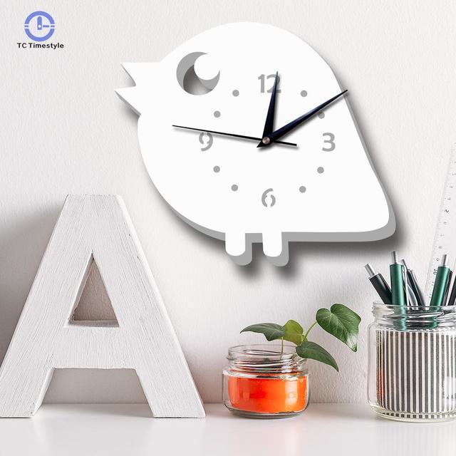 US $19.32 18% OFF Nordic Wall Clock Cartoon Chicken Wall Clocks Children  Room Bedroom Silent Home Decoration Accessories Modern Watch-in Wall Clocks  ...
