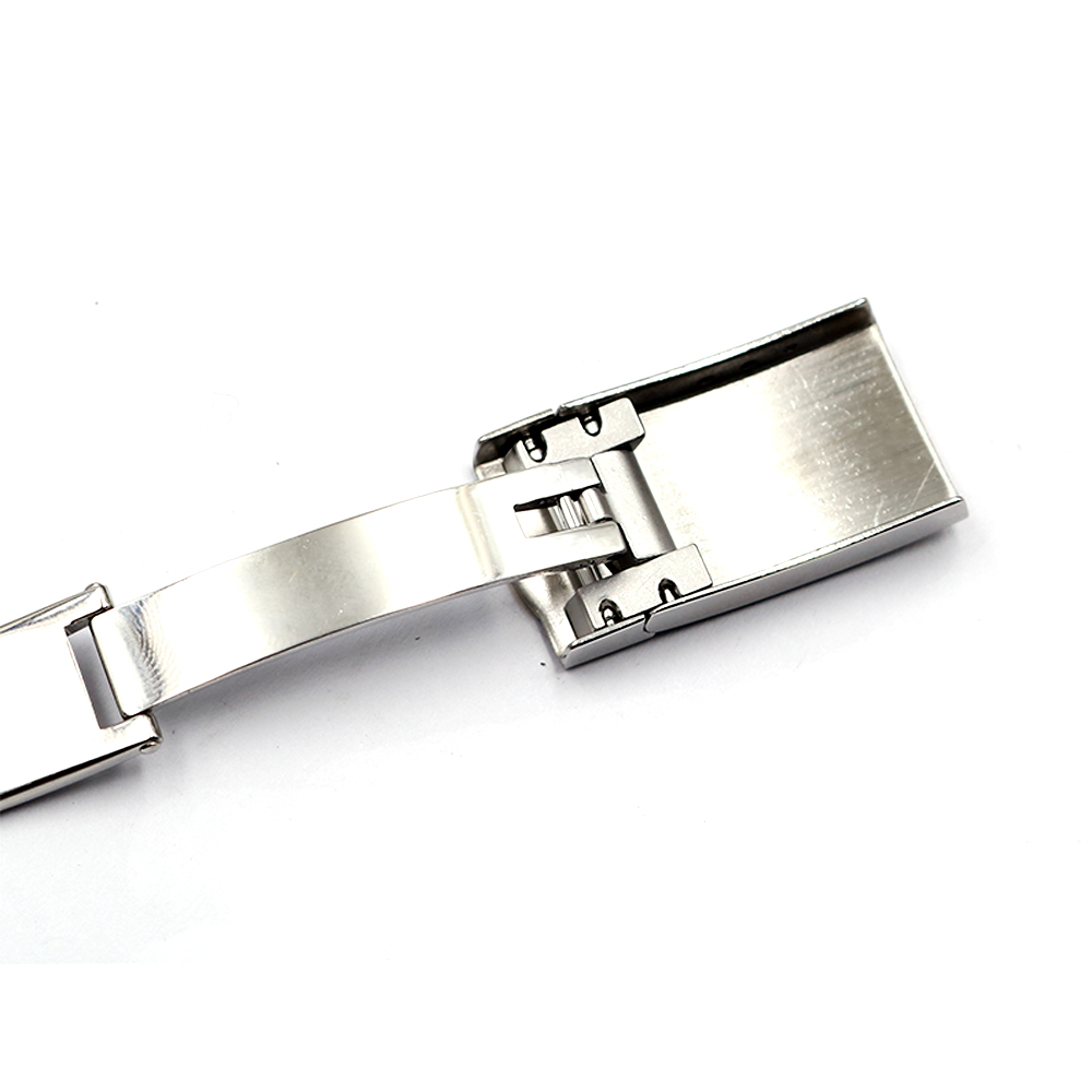 CARLYWET Wholesale 16 x 9mm 316L Stainless Steel Replacement Buckle Clasp For GMT Submariner Bracelet Rubber Leather Band Loops in Watchbands from Watches