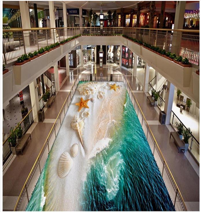 3D sea floor painting paintings turquoise 3D wall murals wallpaper waterproof floor  Custom Photo self-adhesive 3D floor