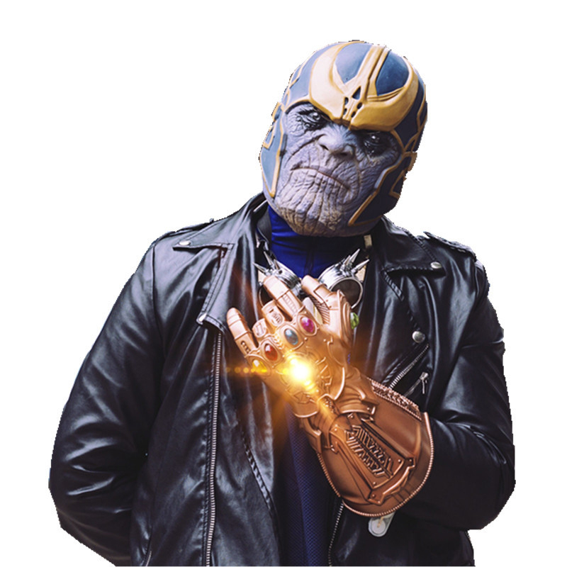 Diplomatic Hot The Avengers Alliance Anime Peripheral Infinity War Thanos Gloves/headgear Thanos Mask For Cosplay Decoration Attractive Designs; Back To Search Resultshome & Garden