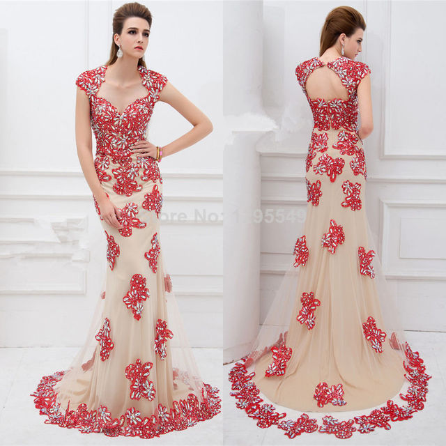 Hot New 2014 High End Prom Dress Formal Dress Girl Gowns Custom Size