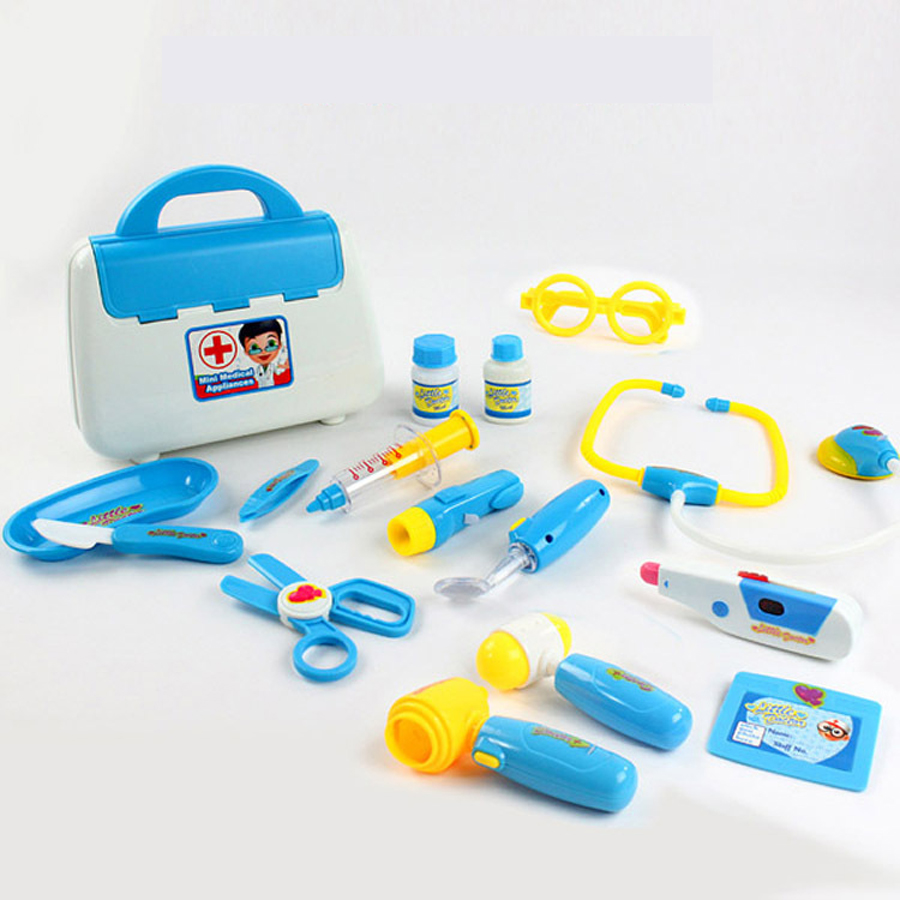 15 PCS Pretend Play Doctor Toys Simulation Medicine Medical Kit Kids ...