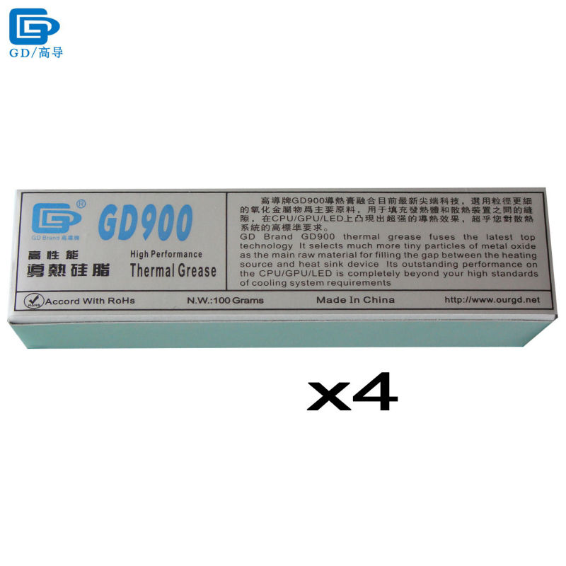 GD900 Thermal Conductive Grease Paste Silicone Plaster Heat Sink Compound 4 Pieces Net Weight 100 Grams High Performance ST100