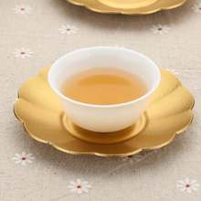 Tea Coffee Cup Holder Mat Heat Resistant Saucer Teaware Drink Coasters Alloy Copper  Trays Py