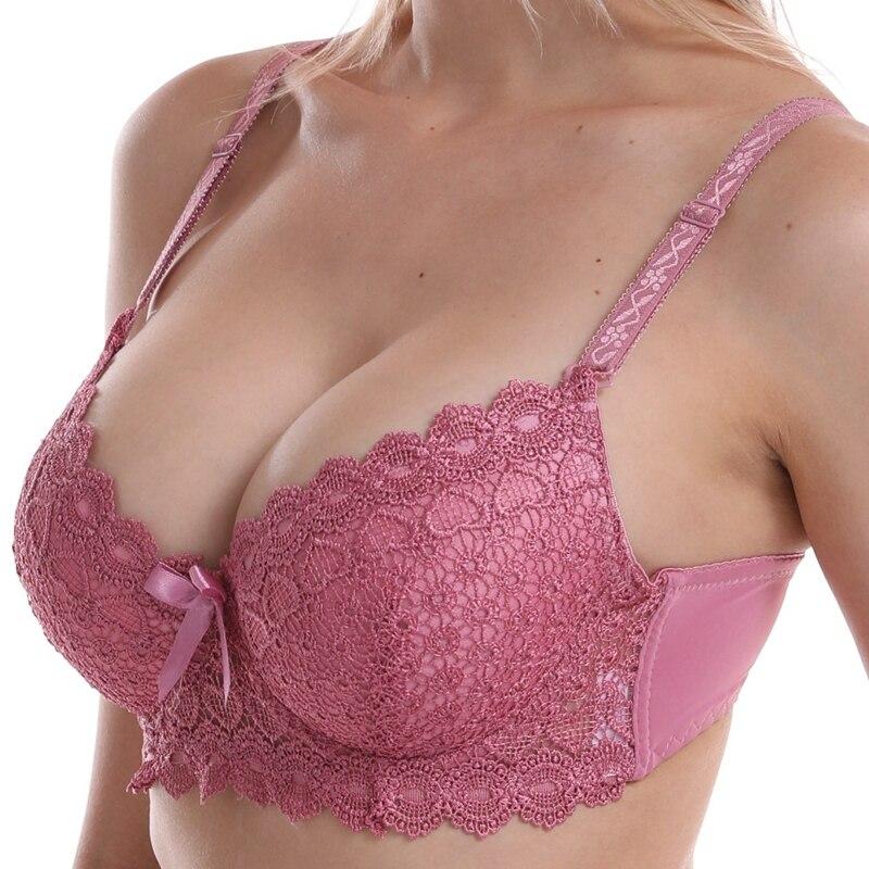 Lace Push Up Bralette Padded Plus Size