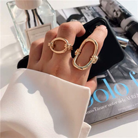 France Niche Brand Designers Fashion Geometric Gold Ring Most Popular Collocation Jewelry For Women Men High Quality Bijoux