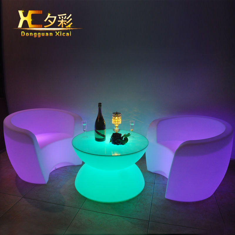 Aliexpress Com Buy Plastic Led Coffee Table Round Wine Tea End Tables For Bar Club Pub Resturant Hotel Ceremony Wedding Party Grand Opening From Reliable