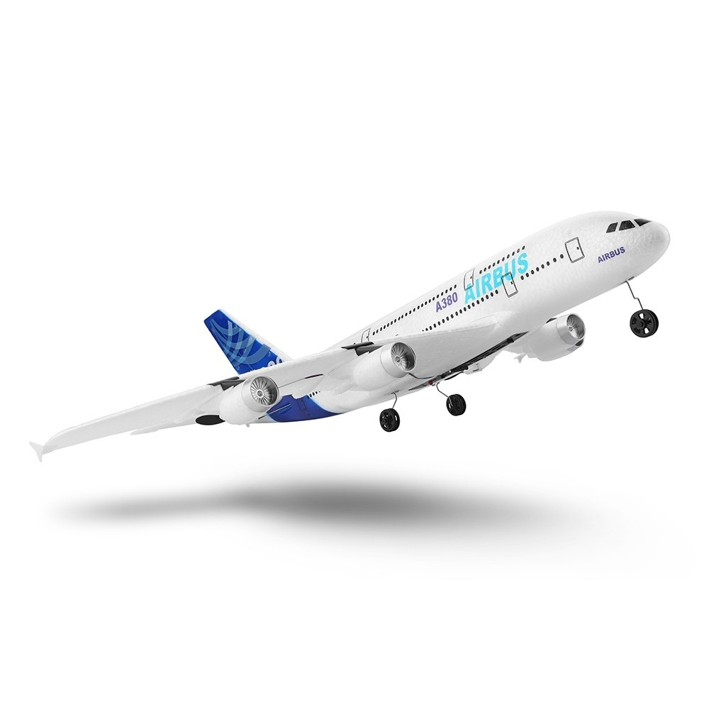 Flying Model Remote Control Airplane 3CH EPP Fixed wing Airbus Plane A380 Model 2 4G Aircraft