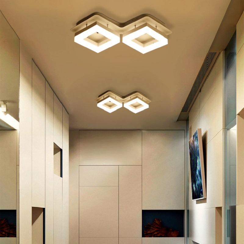 New Modern Square LED Ceiling lights Fixture For Indoor Lamp ...