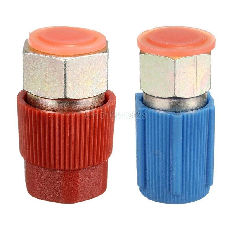 Ventil Sanitär 2 Teile/satz Schnell Trennen A/c Lade Port Adapter R12 Port Zu R134a Akzeptieren