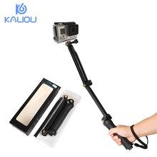 Kaliou Waterproof 3 Way Grip Monopod Selfie Stick Tripod for Gopro 6 5 4 3 2 1 SJCAM SJ4000 Sports Action Camera Accesseries