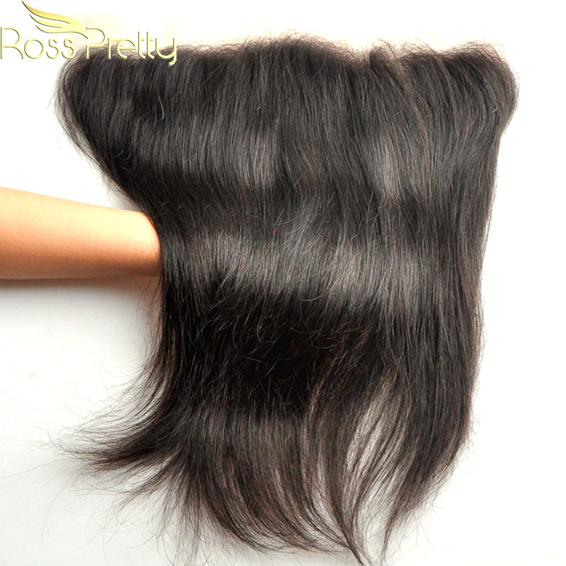 Brazilian Remy Hair Weave Ross Pretty Straight Lace Frontal Free Part Ear to Ear Human Hair 13x4 Lace Closure Fast delivery