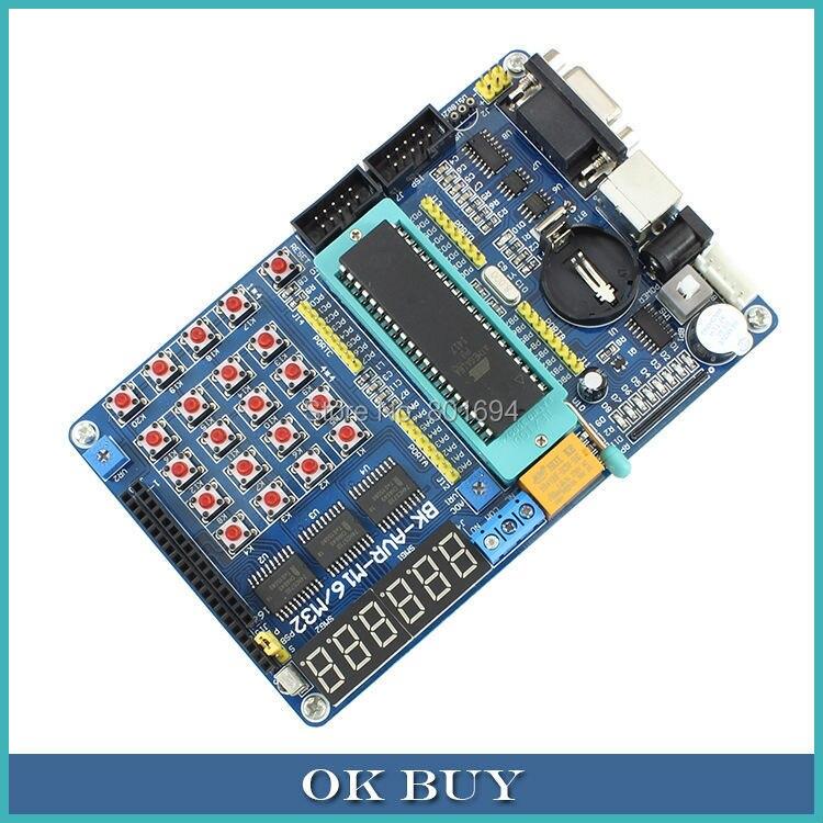 ATMEGA16A Puce Core AVR SMC Développement Bord D'apprentissage carte de Test Programmeur Avec Pins