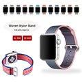 Mais novo tecido de nylon watch strap para apple watch band 1:1 cópia original nylon band para apple watch strap