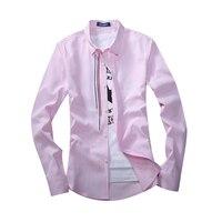2018 New Brand Fashion Long Sleeve Mens Dress Shirts Casual Men Shirt Designer Male Suit Shirt
