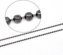 Free shipping!!!!100M/ Gunmetal Ball Chains Findings 2.4mm