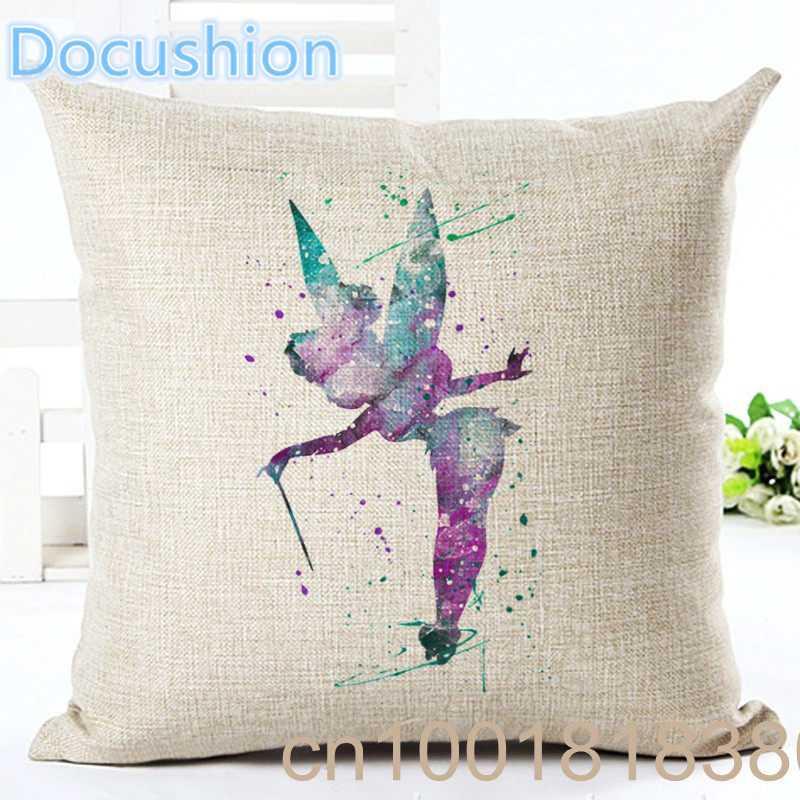 Online Store Colorful Cartoon Girl Printed Cushion Houseware Linen Throw Pillow Almohadas Home Couch Seat Bed