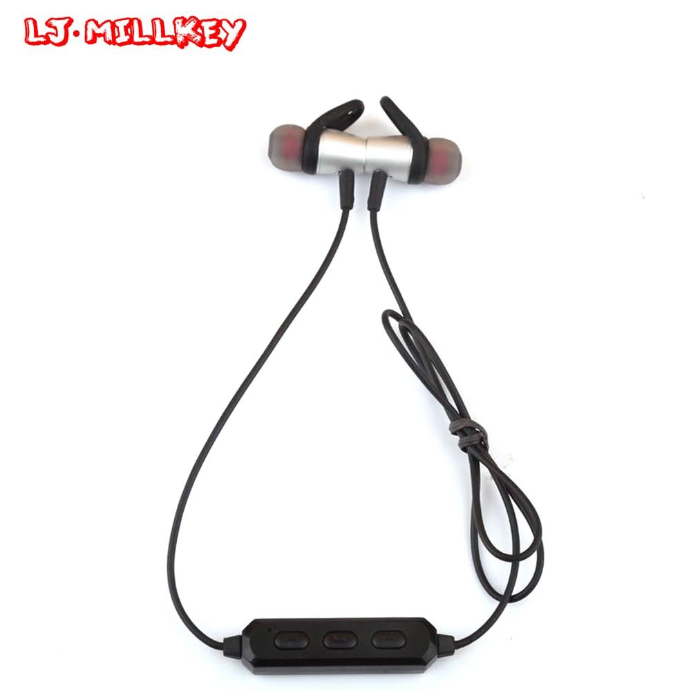 BT-80 Magnetic Bluetooth Earphones Wireless Sports Headset with Mic Stereo Music Sweatproof Ecouteur for Workout LJ-MILLKEY лодочный электромотор minn kota ulterra 80 i pilot link bt 152см 24v