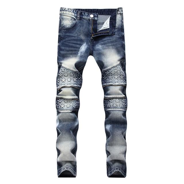 Biker Jeans Pants With Multi Zipper 3