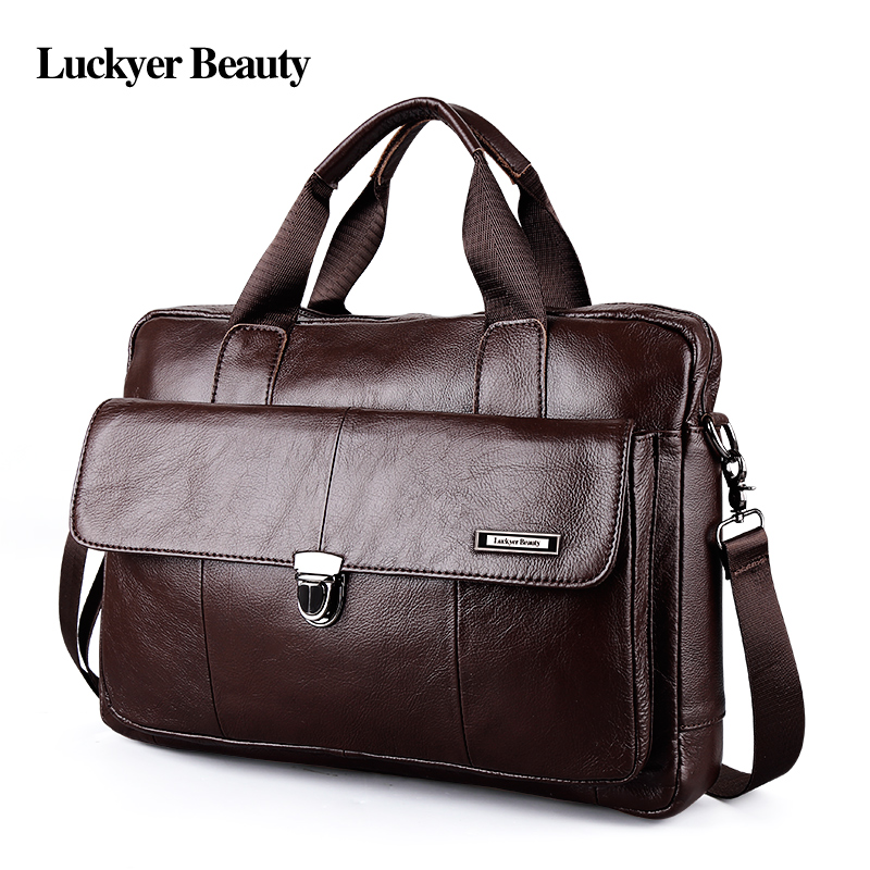 Fashion laptop travel bag Men's genuine leather 5