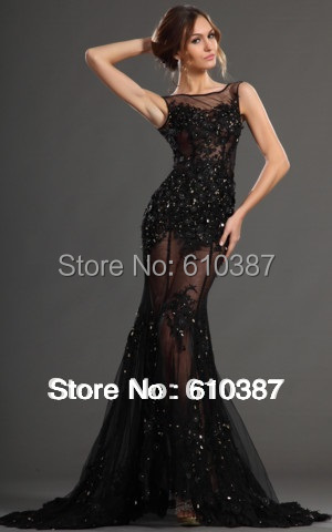 26ed08729ab Free Shiping New Fashion Sex Women Elegant Lace Llim Court Train Beads  Transparency Appliques Natural evening party prom dress