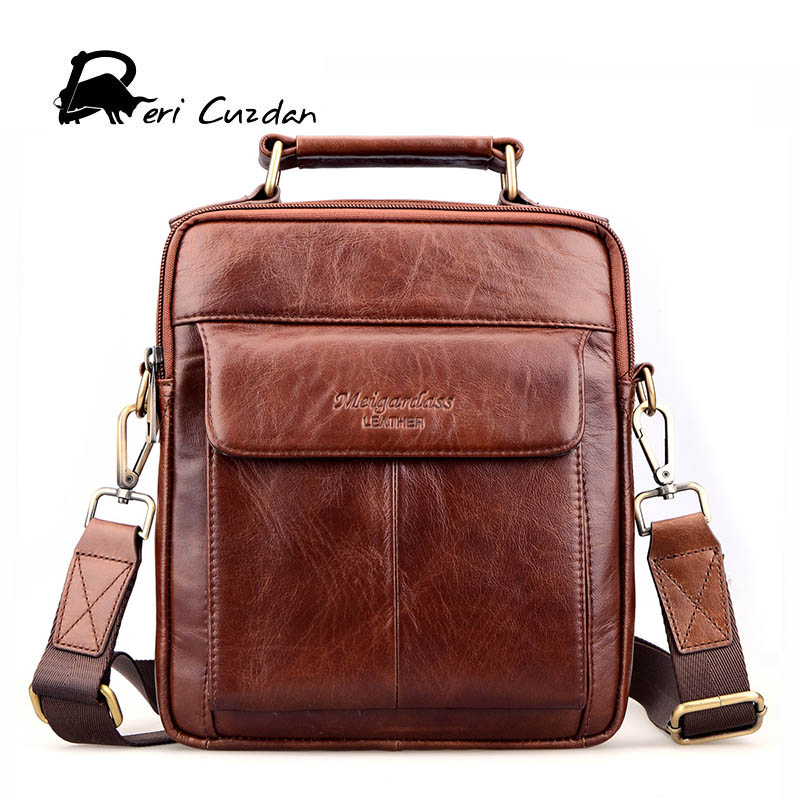 DERI CUZDAN Genuine Leather Brand Men Bag Small Crazy Horse Messenger Bags Man Crossbody Shoulder Bag Business Briefcase for Men ms crazy horse genuine leather men bag men s leather bag men messenger bags shoulder crossbody bags man handbag briefcase tw2011