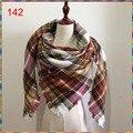 Za mujeres de La Bufanda de Pashmina Bufanda de Cachemira de la Tela Escocesa de Tartán de la manera Nuevo Diseñador Manta Bufanda Bufandas y Abrigos de la Marca de Lujo de Las Mujeres
