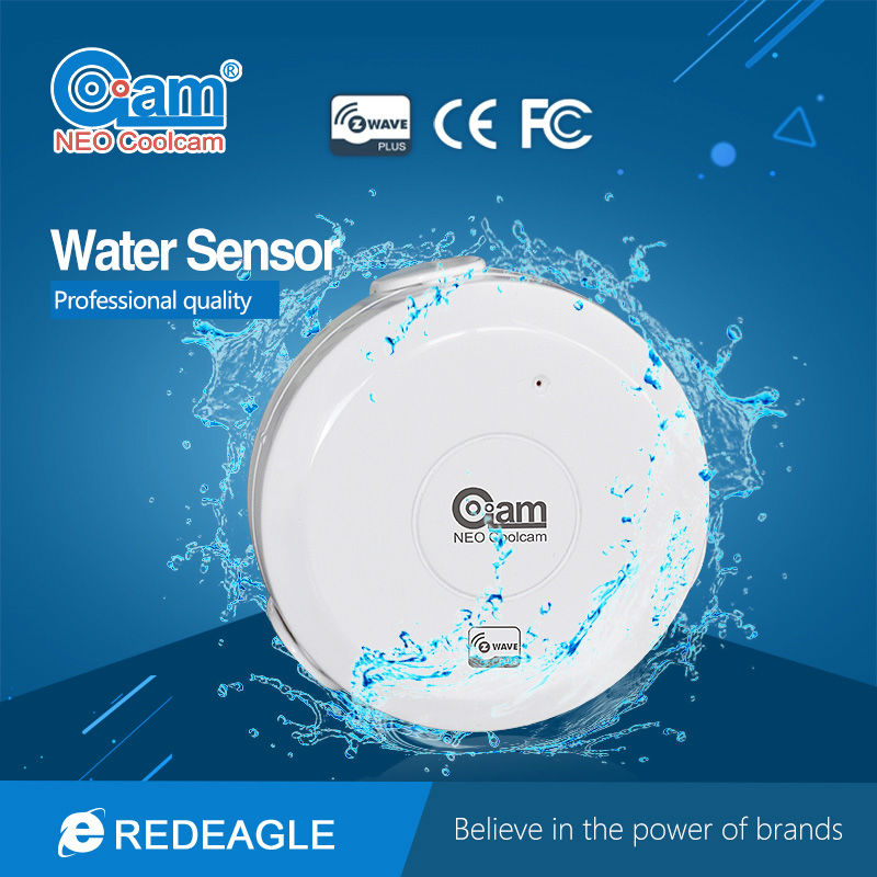 Smart Z-wave Water Flood Detection Sensor Compatible System with Z-wave 300 series and 500 series Home Automation System wireless doorbell z wave siren alarm sensor compatible with z wave 500 series 300 series z wave home automation system