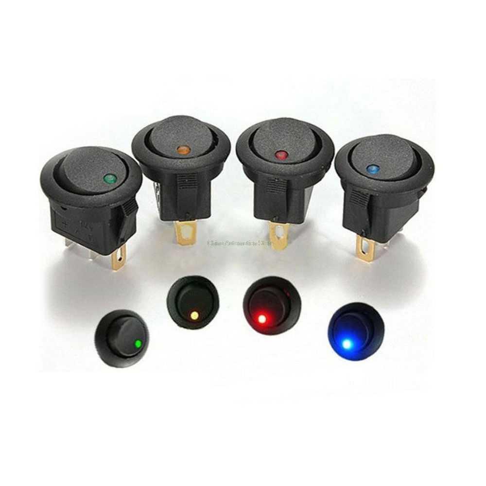 Вкл/Выкл круглый Кулисный переключатель выключатель светодиодная подсветка для автомобиля панель управления лодка фургон 12 V