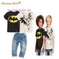 Новый летний стиль спортивный костюм мода мальчик комплект одежды 2 pcsT + 1 шт. детей мальчики костюм комплект lyw-25731