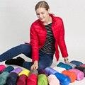2016 Hot Nova Marca de Inverno Para Baixo Mulheres Jaqueta Moda Estande Estilo de gola Zipper Para Baixo Casaco Quente Parka Casaco Feminino Sólida Outwear