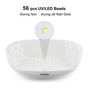 Image 2 - Aokitec UV lamba tırnak 78W iki el Led jel lamba çivi kızılötesi sensör 4 zamanlayıcı tırnak kurutucu 56 boncuk LCD tırnak lambası manikür için