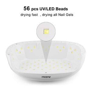 Image 2 - Aokitec Đèn UV Móng Tay 78W 2 Tay Led Gel Đèn Móng Cảm Biến Hồng Ngoại 4 Hẹn Giờ Máy Sấy Móng Tay 56 hạt LCD Móng Tay Đèn Làm Móng