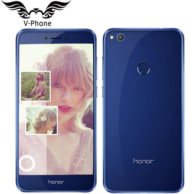 """2017 Новый оригинальный Huawei Honor 8 Lite 4 г LTE мобильный телефон 4 ГБ 64 ГБ KIRIN 655 Octa core 5.2 """"1920*1080 P 12MP 3000 мАч отпечатков пальцев"""