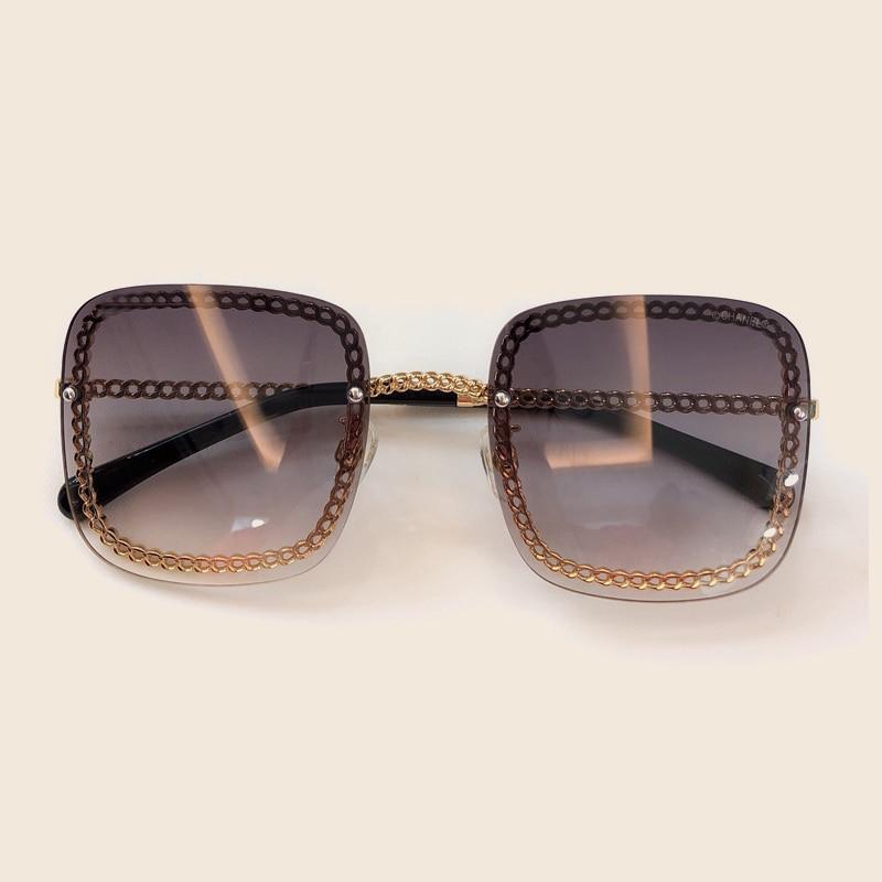Marke no3 Square Mode Frauen Designer Sommer Sunglasses Kette no2 no4 no5 Qualität Sunglasses Hohe Mit Sunglasses Sonnenbrille Vintage Sunglasses Box no6 Für Weibliche Sunglasses Shades No1 Sunglasses 2019 RqXPwd