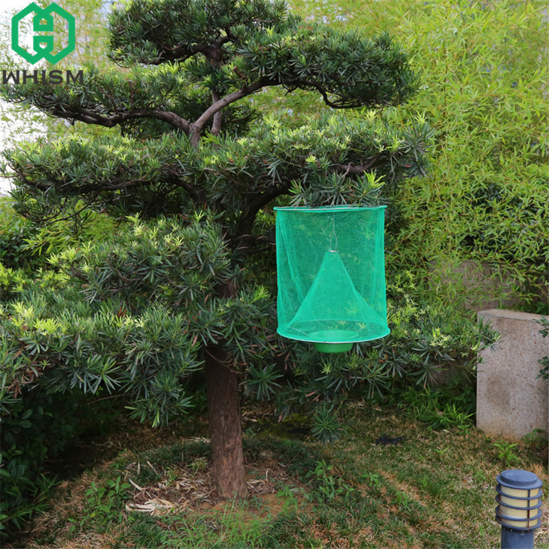 US $4 55 |WHISM Foldable Drosophila Trap Hanging Catcher Fly Bug Insect  Killer for Outdoor without White Pot armadilha para mosquito-in Traps from