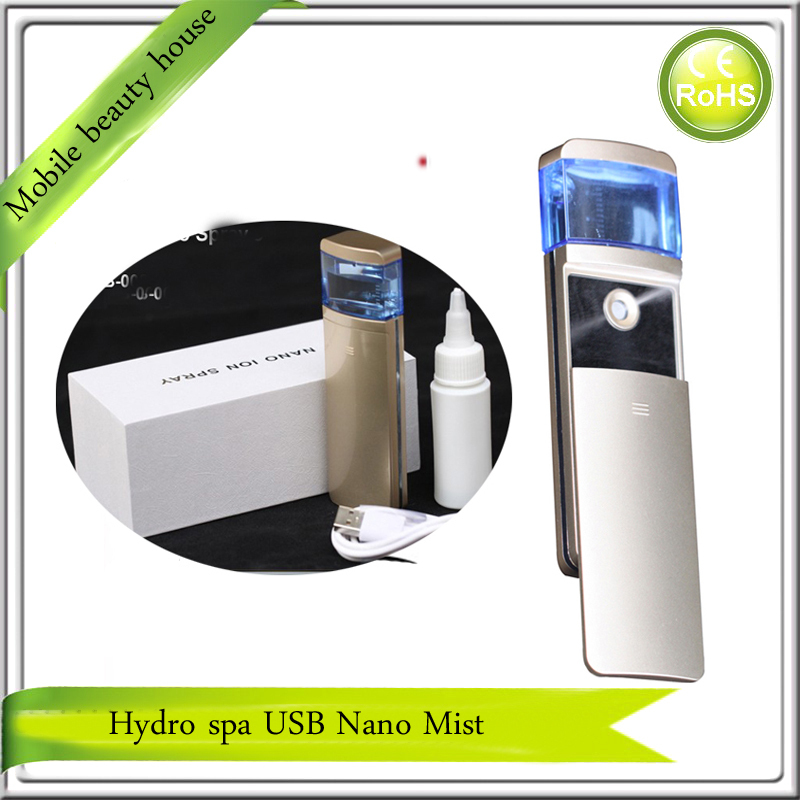 ФОТО USB Rechargeable Ultrasonic Nano Cool Handy Mist Spray Facial Steamer Humidifier For Eyelash Extensions Beauty Care Instrument