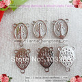 Free shipping cheap 100pcs/lot metal holy maria rosary centerpiece 14x21mm rosary centerpieces,centre piece special offer