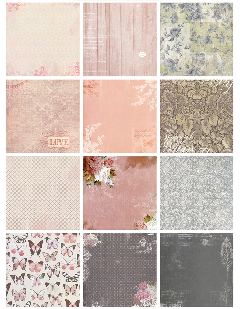 Scrapbook paper diy - New 6 Beautiful Butterfly Love Background Paper Pads Patterns 26sheets Diy Craft Scrapbooking Paper Pack Flowers