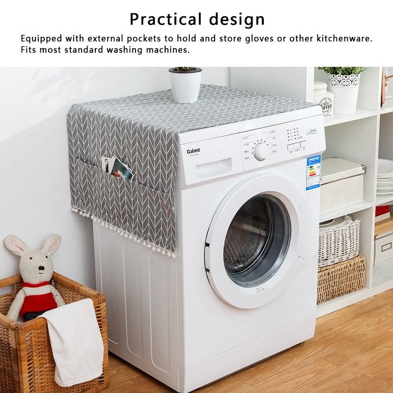 Геометрическая стиральная машина Пылезащитная Крышка для кухонного холодильника пылезащитные чехлы с сумкой для хранения чистящие аксессуары чехол